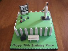 Grass Bowling Cakes