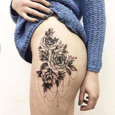 Inspire-se com tatuagens florais que lembram obras de arte na pele | Virgula