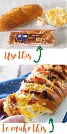Cheesy Bacon Hasselback Bread