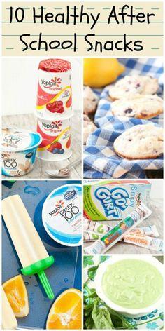 Easy ideas! 10 Healthy After School Snacks #ad