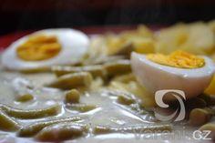 Když nejsou fazolky čerstvé poradíme si i se zamrazenými. Vynikající recept. Waffles, Pudding, Breakfast, Desserts, Food, Morning Coffee, Tailgate Desserts, Deserts, Custard Pudding