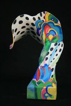 panty hose sculptures - I've made these before but I like the paint job on this one! Paint inspired by an artist - might make for a good artist study project too!