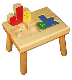 Damhorst Toys & Puzzles Personalized Wooden Child's Name Puzzle Stool Primary Colors Baby's First Birthday Gifts, Baby Birthday, First Birthdays, Prince Birthday, Birthday Ideas, Birthday Cake, Kid Names, Baby Names, Name Puzzle