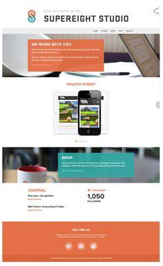Decent layout for portfolio content.  http://supereightstudio.com/