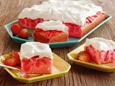 Strawberry Shortcut Cake Recipe : Patrick and Gina Neely : Food Network - FoodNetwork.com