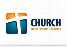 Pre-designed logo 3098: Modern Cross Church Logo