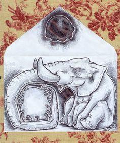 Mail art Elephant