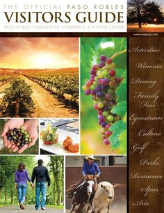Paso Robles Visitors Guide  This is the Official Visitor Guide for Paso Robles, published by the Paso Robles Chamber of Commerce. Inside you'll find tips for planning a winery tour, a keyed listing of area wineries, performing arts, calendar, recreation, history, maps, demographics, narratives and so much more!