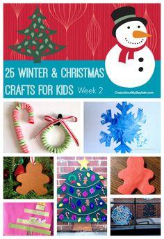 25 Winter and Christmas Crafts for Kids - Week 2 #Toddlers #Preschoolers #Homeschool