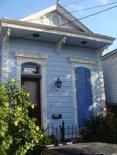 Shotgun house, 2709 Decatur St. in the Faubourg Marigny, New Orleans, LA