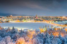 Reykjavik 101 in  December 2015  Vetrarmynd af miðborginni í ljósaskiptunum tekin með flygildi.  Óli Haukur Mýrdal  2.12. 2015,  www.nco.is , NCO eCommerce, IoT, www.netkaup.is
