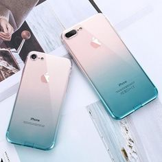 IPhone 5 SE 6 iPhone 7 8 Plus X XS Max XR Ultra Thin Gradient ColorClear TPU Phone Cases. Feature : Gradient Color Ultra Thin Transparent Back Cover Fundas. Cute Phone Cases, Iphone 7 Plus Cases, Iphone Phone Cases, Iphone 6 Cases Clear, Iphone Watch, Iphone Charger, 5s Cases, Telefon Apple, Capas Iphone 6