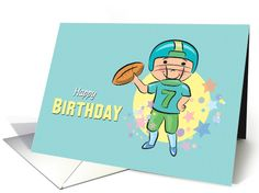 Lacrosse player silhouette and ball for good luck card lacrosse cartoon boy throws a football on this cute birthday card wonderful card for the football fan greetingcarduniversejjbdesigns greetingcard m4hsunfo