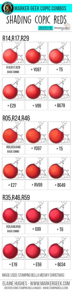 Copic Colouring and Shading Red feat. Click through for pinnable guides, videos and Copic colouring tips! Copic Marker Art, Copic Pens, Copic Sketch Markers, Copic Art, Copics, Prismacolor, Copic Color Chart, Copic Colors, Copic Markers Tutorial