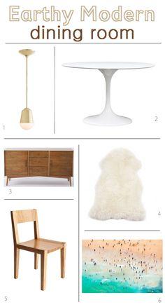 earthy modern // dining room