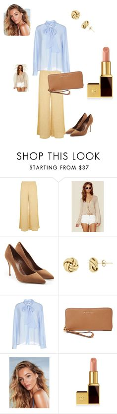 """""""Mujer 60 años. Estilo Clasico. Bautismo"""" by jesica-cropanese on Polyvore featuring moda, Topshop, Blue Life, Sergio Rossi, Iris & Ink, MICHAEL Michael Kors y Tom Ford"""