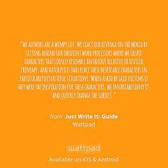 "I'm reading ""Just Write It: Guide"" on #Wattpad. https://www.wattpad.com/77375230?utm_source=ios&utm_medium=pinterest #random #quote"