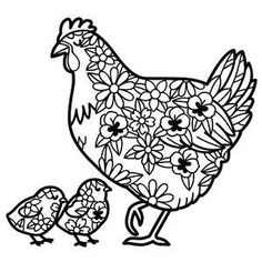 This sweet mother hen and chicks floral design is perfect for spring crafts. Print it out for coloring or wall art. It can also be used for card making, scrapbooking and much more! Graduation Images, Silhouette Design, Silhouette Files, Silhouette Cameo Tutorials, Cricut Craft Room, Pretty Images, Hens And Chicks, Wedding Tattoos, Cricut Creations