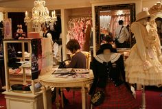 Sweet Lolita shopping guide, where to buy Gothic Lolita womens designer clothing in Tokyo Japan. Marui one department store in Shinjuku station