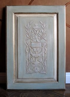 create a raised stencil pattern and paint with chalk paint