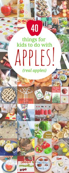 Things for kids to with apples! 40 apple activities for kids using real apples!