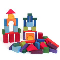 Natural Wood Building Blocks and Construction Toys from The Wooden Wagon