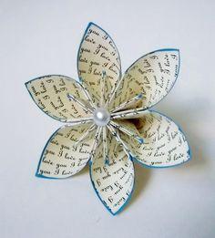 Ich liebe dich Papier Blumen Hochzeit von DanasPaperFlowers