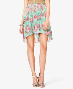 #Forever21                #Skirt                    #Floral #Print #Pleated #Skirt #FOREVER21 #2021839307                         Floral Print Pleated Skirt | FOREVER21 - 2021839307                           http://www.seapai.com/product.aspx?PID=113088