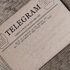Guest Book Telegram Cards