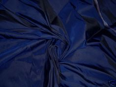 COBALT BLACK 100% PURE SILK TAFFETA FABRIC DRESS COOL!