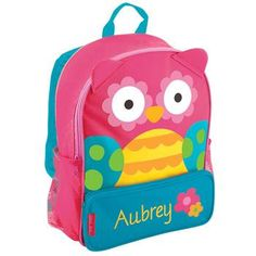 Monogram Stephen Joseph Toddler Owl Backpack, School Bag, Book Bag for Back to School by HeyYallandCo on Etsy