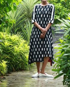 Black And White Tesselated Ikat Kurta I Shop at :http://www.thesecretlabel.com/shalini-james