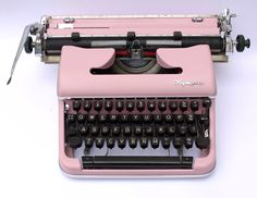 Pink Typewriter - SM3 De luxe by RetroandRevamped on Etsy https://www.etsy.com/listing/222020335/pink-typewriter-sm3-de-luxe