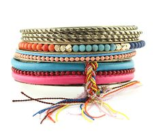 Sam Moon | Tasseled Bangle Set $6.99