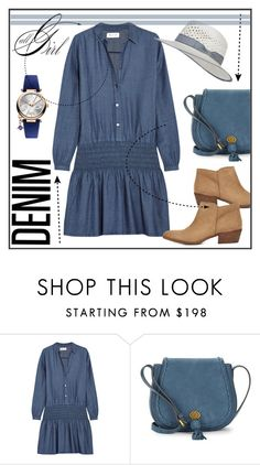 """""""Madewell Printed denim mini dress"""" by biange ❤ liked on Polyvore featuring Madewell, Nanette Lepore and Vivienne Westwood"""