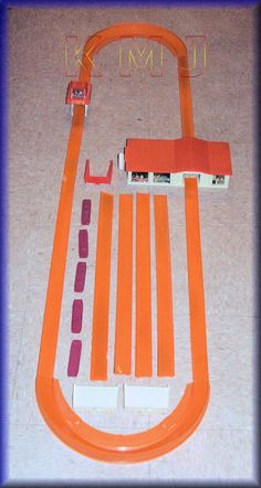 1970's Hot wheel's Race-track!  Loved it!  The house had two spinning wheels in it that would make the hot wheel car shoot through it.  The trick was getting to go fast enough to make it go all the way around the track and back into the house without having to touch the car!!  Oh the memories!!