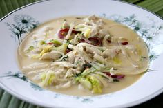 Thaisuppe med kylling Nom Nom, Soup, Ethnic Recipes, Soups