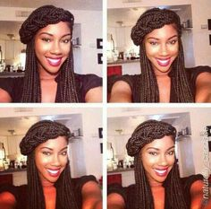 I'm going to do this with my hair the next time I do Havana twists