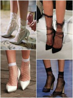 Socks and heels Women's Shoes, Sock Shoes, Cute Shoes, Me Too Shoes, Ballet Shoes, Shoe Boots, Dance Shoes, Socks And Heels, Ankle Socks