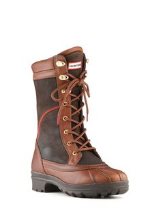 Hunter Corinna -- Ladies Chunky Leather Boot | Hiking Style Boot | Hunter Boots