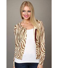 Lucky Brand Zebra Print Cardigan