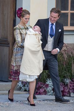 Royal Family Around the World: Christening of Prince Nicolas of Sweden at Drottningholm Palace on October 11, 2015 in Stockholm, Sweden.