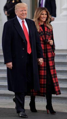 Donald And Melania Trump, First Lady Melania Trump, Donald Trump, Trump Melania, Malania Trump, John Trump, Trump Train, Milania Trump Style, Trump Christmas