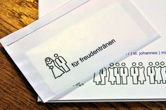 Gastgeschenke - 10 Freudentränen-Taschentücher - ein Designerstück von blick7 bei DaWanda
