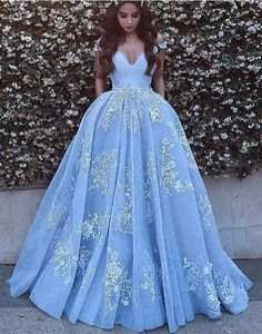 Cheap prom dresses 2017,off shoulder A-line blue tulle
