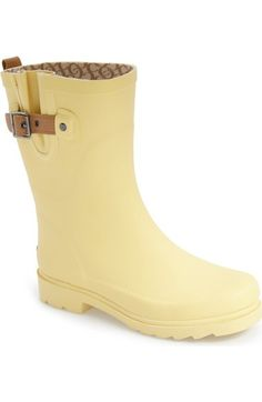 'Top Solid Mid Height' Rain Boot (Women) - Chooka