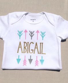 Baby Girl Clothes Coming Home Girls Monogrammed Newborn Shower Gift Cute Name Shirt