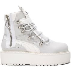 Fenty by Puma Leather Sneaker Boots ( 325) ❤ liked on Polyvore featuring  shoes ff7829972