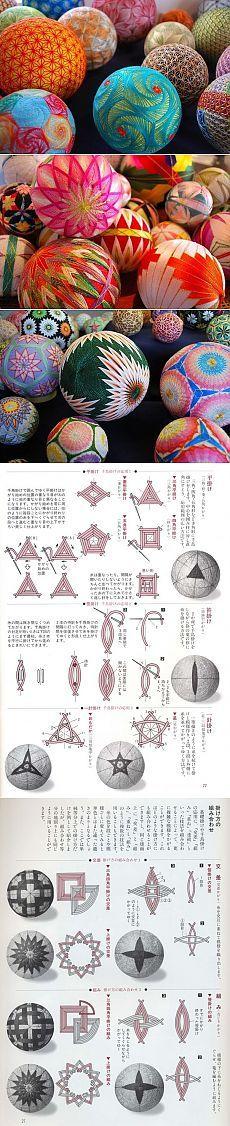Японские шары темари своими руками