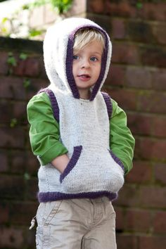 Boys Hooded Vest Pattern  Little Cupcakes by by HoneyCakes on Etsy, $6.25